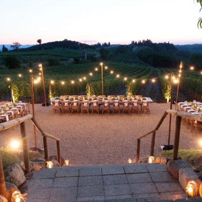 luci san donnino winery allestimento